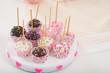 Obrazy na płótnie, fototapety, zdjęcia, fotoobrazy drukowane : Plate of cake pops