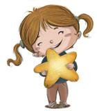 niña con estrella