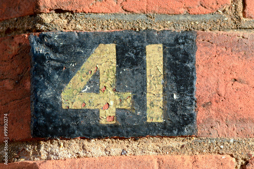 Poster House Number 41 painted sign