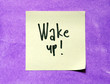 wake up text