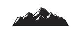 vector black mountain