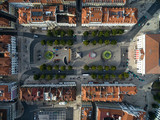 Aerial View of Dom Pedro IV Square in Rossio, Lisbon, Portugal
