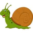 illustration of Cute snail cartoon
