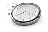 Chronograph, Stopwatch Over White
