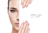 Beauty Makeup and Nail Art Concept