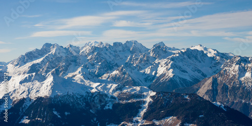 Alps mountain winter landscape