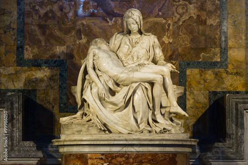 Fototapeta Pieta - Michalangelo - st. Peters cathedral