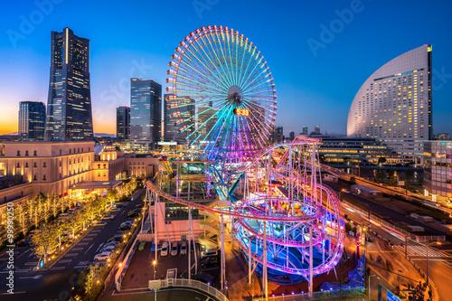 CosmoClock 21 Ferris Wheel in Yokohama Minato Mirai