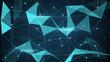 Detaily fotografie futuristic techno shape polygon background
