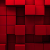 Fototapety abstract red cubes wall background