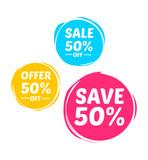 Offer, Sale & Save 50% Marks