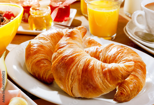 Delicious continental breakfast