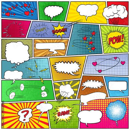 obraz lub plakat Abstract set of comic template