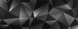 Fototapety Polygonal dark vector background.