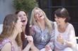 Happy group of adult women having fun