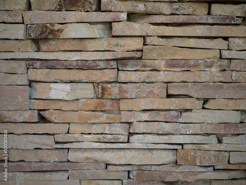 Background & Stacked Stone Wall. Poster