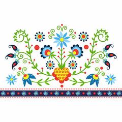 polski wzór ludowy z Kaszub - inspiracja