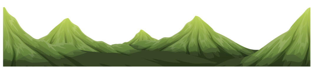 Seamless green mountain range