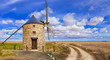 rural landscape with a windmill. Spain
