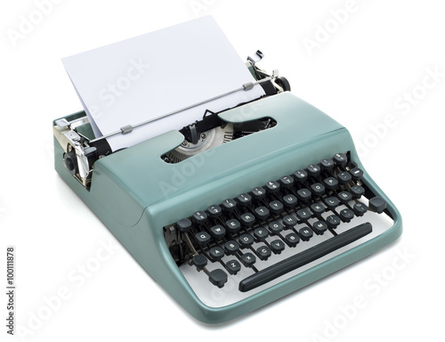 Poster vintage typewriter isolated