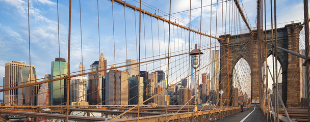 Panoramic view of Brooklyn Bridge