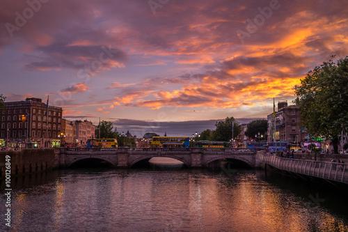 Dublin at Night, Ireland Poster