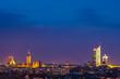 Blick über Leipzig am Abend