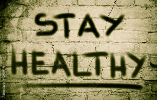 Poster Stay Healthy Concept