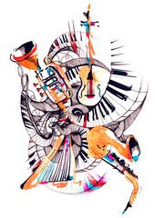 musical instruments © okalinichenko