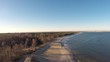 Aerial view for beautiful beach at Baltic Sea, Poland