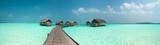 Wonderful lagoon around a maldivian island