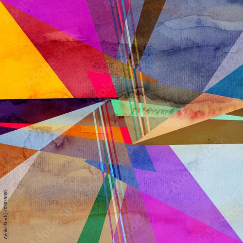 Zdjęcia na płótnie, fototapety na wymiar, obrazy na ścianę : Abstract colorful watercolor background