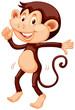 Little monkey dancing alone