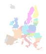 European Union Map - colorful