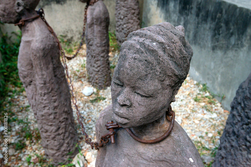 Staande foto Zanzibar Monument of slaves dedicated to victims of slavery