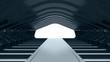 Futuristic dark tunnel