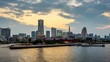 Yokohama, Japan city skyline time lapse.