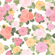 vintage seamless texture with roses