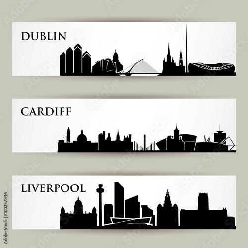 Poster United Kingdom city skylines