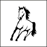 Illustration with the image of a horse