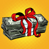 peníze jako dárek lásky a darování