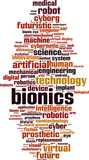 Bionics word cloud concept. Vector illustration