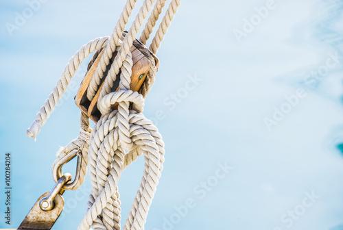 Segelboot Talje Seil Tau Poster