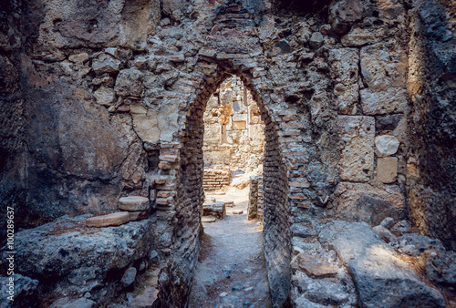 Ancient civilization temple Poster