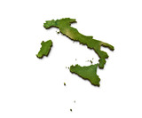 3D Italy Map Terrain