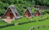 wooden huts at nature in kanchanaburi, Thailand  June 8, 2015 - 100331623