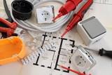 Bauplan mit einem Schalter