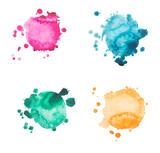 Fototapety watercolor blot, drop, isolated on white background