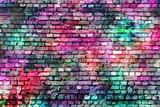 Colorful grunge urban art wall background - 100365299