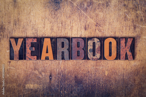 Poster Yearbook Concept Wooden Letterpress Type